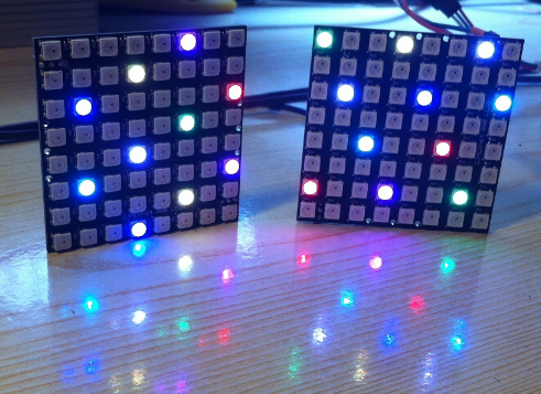 2019 1PCS WS2812 8x8 64 LED Matrix LED 5050 RGB สี Driver Black Board