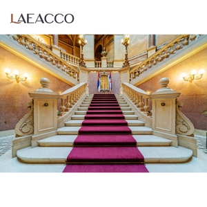 Image 2 - Laeacco خلفية للتصوير الفوتوغرافي لاستوديوهات الصور ، خلفية رائعة للقصر الملكي ، السلالم ، للتصوير الفوتوغرافي