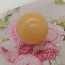2 шт., круглые бусины из натурального желтого камня