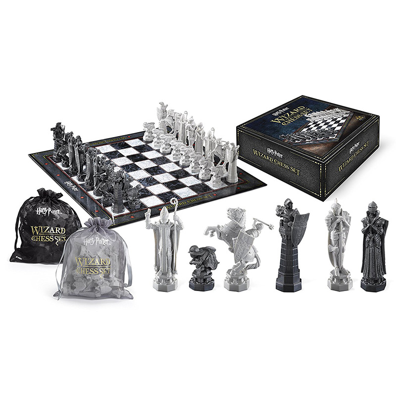 Hogwarts Wizard Chess Harried Potter Ron Final Challenge Collection Toy Tile Games International Chess Christmas Birthday Gift