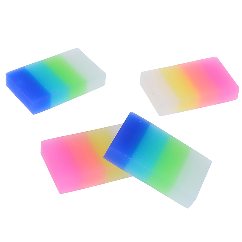 1pc Eraser Rainbow Candy Color Children Stationery Gift Cute Crystal Small Rubber Office Supplies