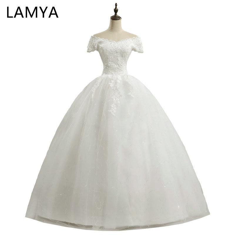 V Neck Wedding Dresses 2019 Vintage Lace Bride Gown Vestidos De Novia Casamento Real Photo Simple Kate Nemidor Robe De Soiree