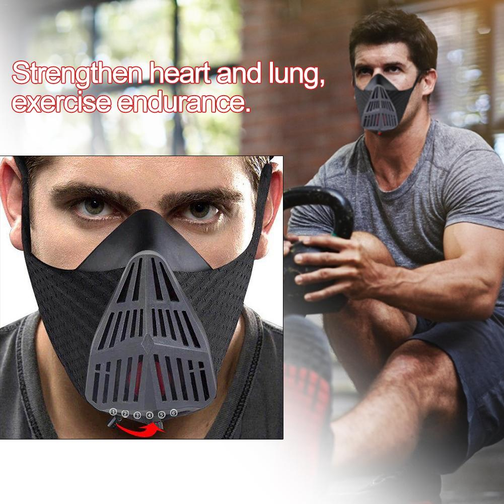 Sports Running Mask Training Fitness Cycling Elevation High Altitude Training Conditioning Sport Masks Oxygen-controlling Mask 4