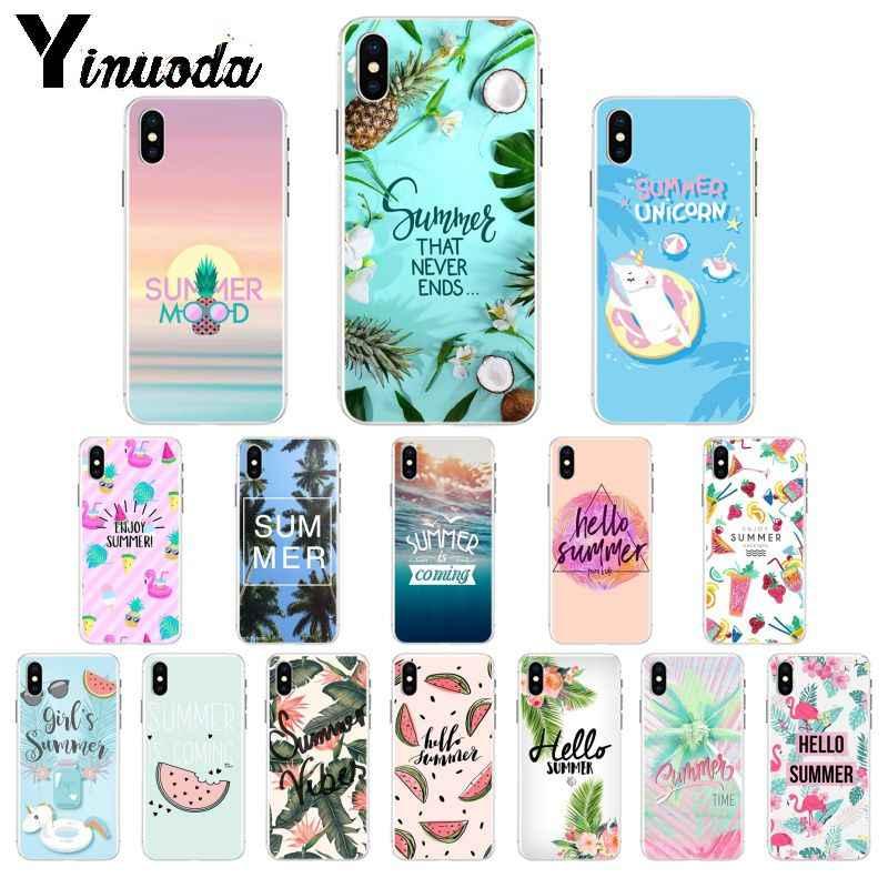 Yinuoda Ciao Fresco Della Spiaggia di Estate Mare Molle di TPU Cassa Del Telefono per il iPhone 5 5Sx 6 7 7plus 8 8 più di X XS MAX XR