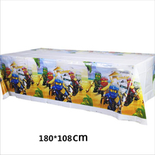 1 adet Ninjago tema masa örtüsü doğum günü partisi erkek çocuklar iyilik dekorasyon masa örtüsü mutlu bebek duş olaylar haritalar 108*180 CM