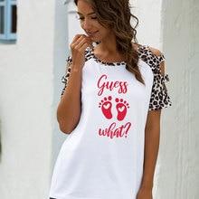 Guessing What foot print Print Women Tshirt Leopard raglan sleeve T-shirt Hipster pattern tshirt Gif