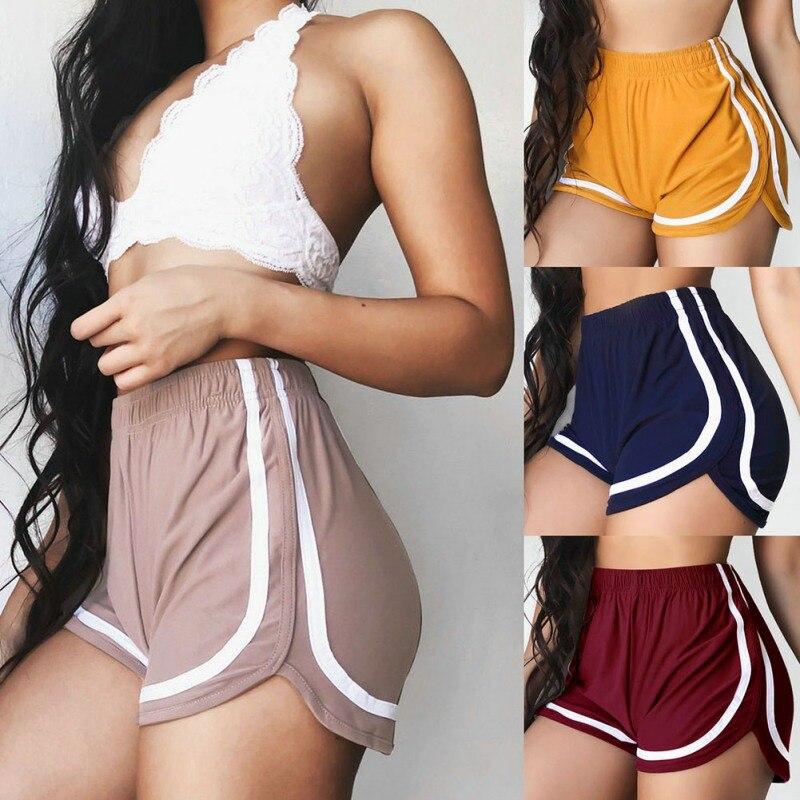 2019 Summer Road Shorts Women Elastic Waist Short Women All-match Loose Solid Soft Cotton Casual Short Femme