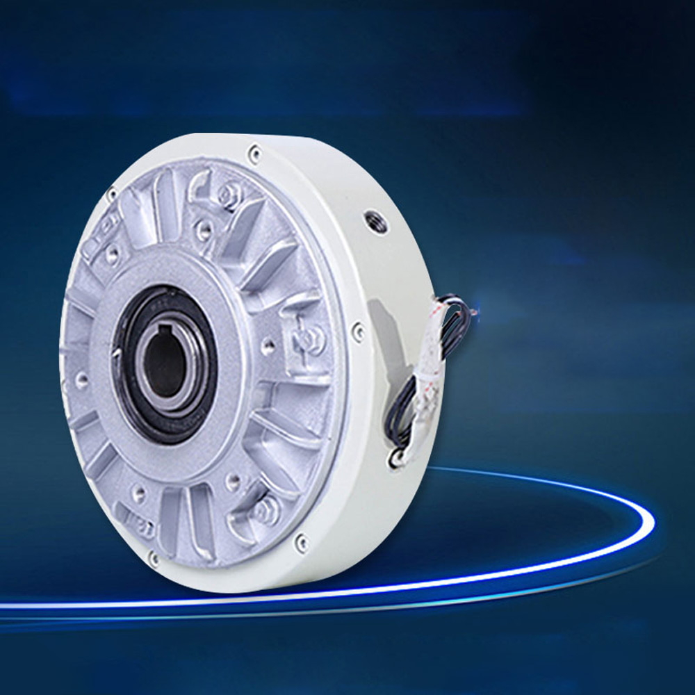 25Nm Magnetic Powder Brake DC 24V Hollow Shaft 1000 RPM Unwinding Tension Control Continuous Sliding Simulated Load FZ25K-1