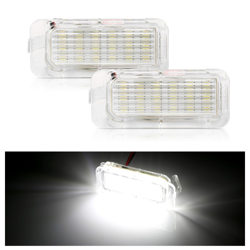 2pcs LED License Plate Light Car Truck License Number Plate Light For Ford Focus 3 C MAX S MAX Mondeo 4 Galaxy KUGA 7903 Fiesta