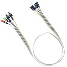 1 adet 65CM ince PC Compute anakart güç kablosu orijinal On Off sıfırlama ile LED ışık PC güç sıfırlama anahtarı basmalı düğme anahtarı