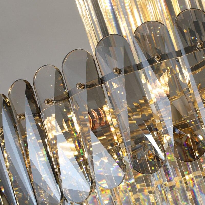 lustres de cristal luxo moderno iluminacao brilho 04