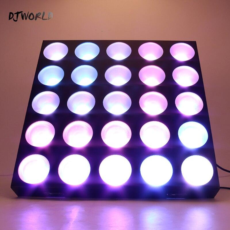 Djworld LED 25x30W RGBW Blinder Matrix DMX512 Stage Effect Lighting Good For DJ Disco Party Bar Wedding Decorations Dance Floor