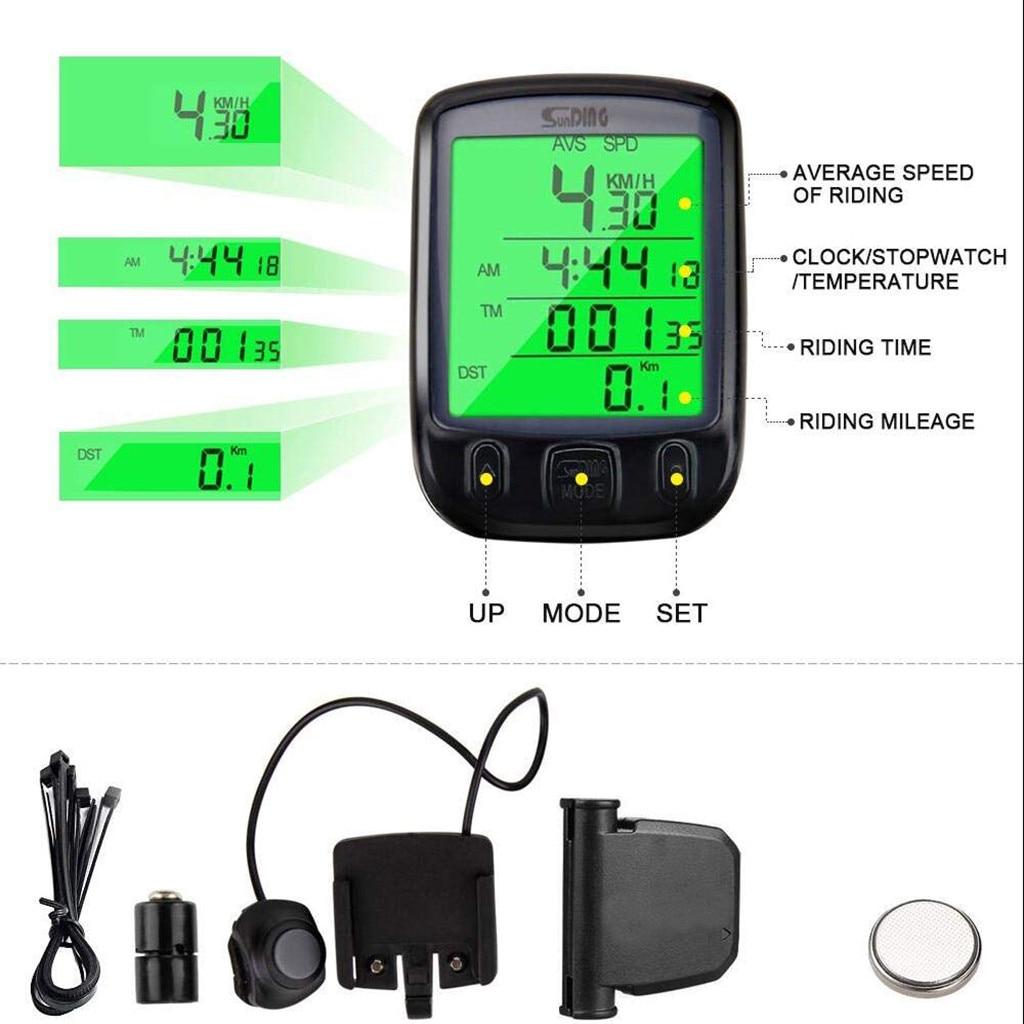Luminous Digital Speedometer Odometer LCD Waterproof Bike Bicycle Computer Speed