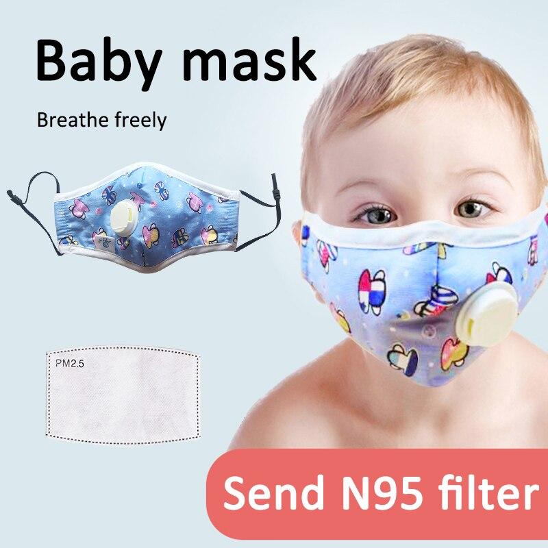 Reusable KN95 Face Mask With Breath Valve Anti-fog Haze PM2.5 Anti-virus Respirator FFP2 FFP3 Dust Mask For Baby Child