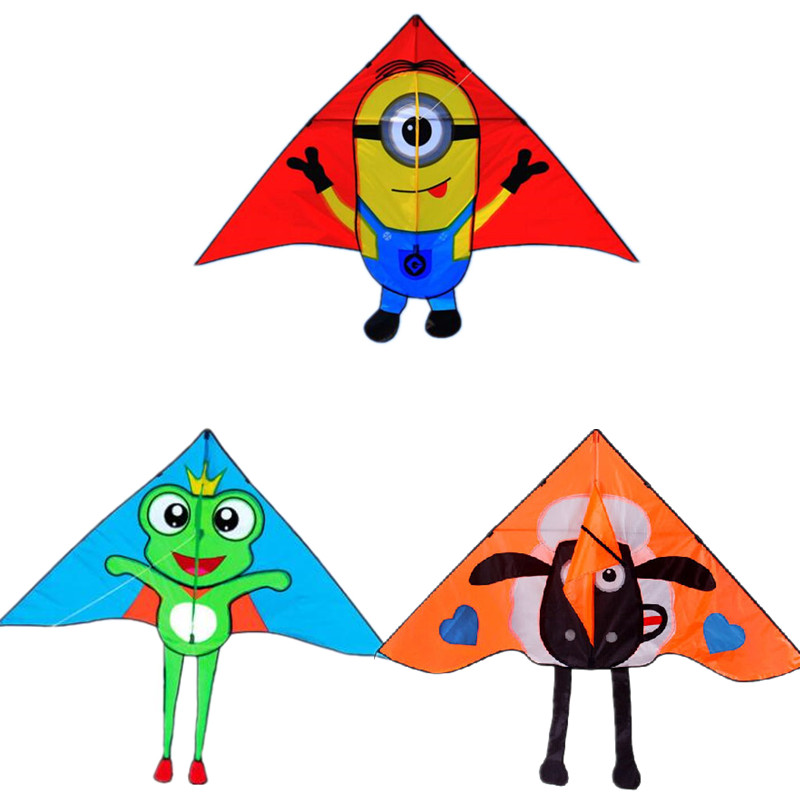 Free Shipping High Quality Children Kites Fly Outdoor Toys Set Handle Kites Tails Weifang Kite Factory Ripstop Nylon 3D Cartoon