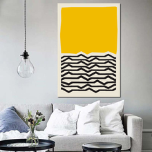 Geometric Abstract Scene Scandinavia Yellow And Black Poster Picture Modern Wall Art Canvas Painting Unique Gift For Home Decor