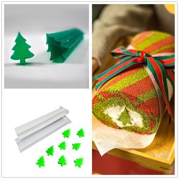 Christmas Tree Silicone Handmade Soap Tube Column Mold fondant chocolate mold Mousse Cake Roll mould baking Pastry tool 3d christmas pine cones tree silicone candle soap fondant mold cake chocolate decorating baking mould tool
