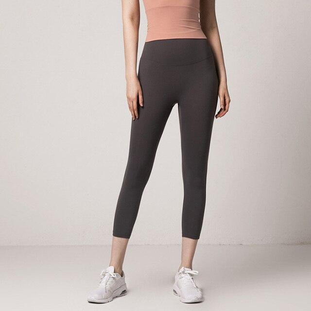 Yoga Celana Legging Warna Solid Wanita Yoga Celana Legging Olahraga Kebugaran Lari Peach Hip Kebugaran Celana Wanita Yoga Pants Aliexpress