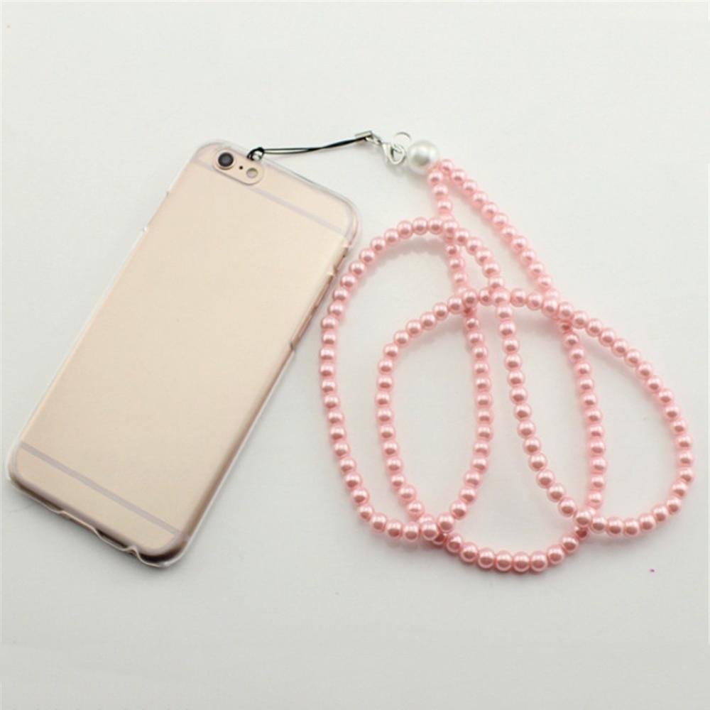 Sztuczne perły smycz na szyje smycz ozdobny pasek na klucze karty identyfikacyjne paski do telefonów komórkowych smycz pokrowiec na karty breloczek moda wstążka