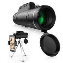 Telescopio Monocular profesional BAK4, Prisma HD de alta calidad, Zoom, para deportes al aire libre, baja visión nocturna, 40x60