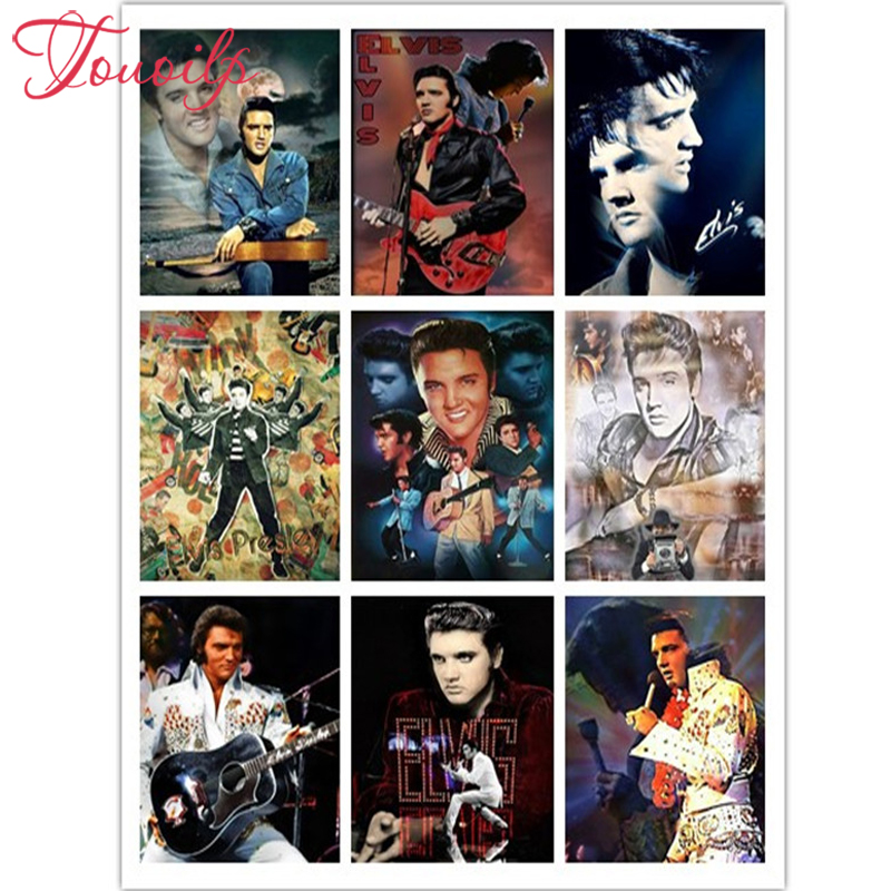 TOUOILP full NEW square&round 5D DIY Diamond Embroidery 5D Diamond painting Elvis Cross Stitch 3D Pictures of Rhinestone mosaic