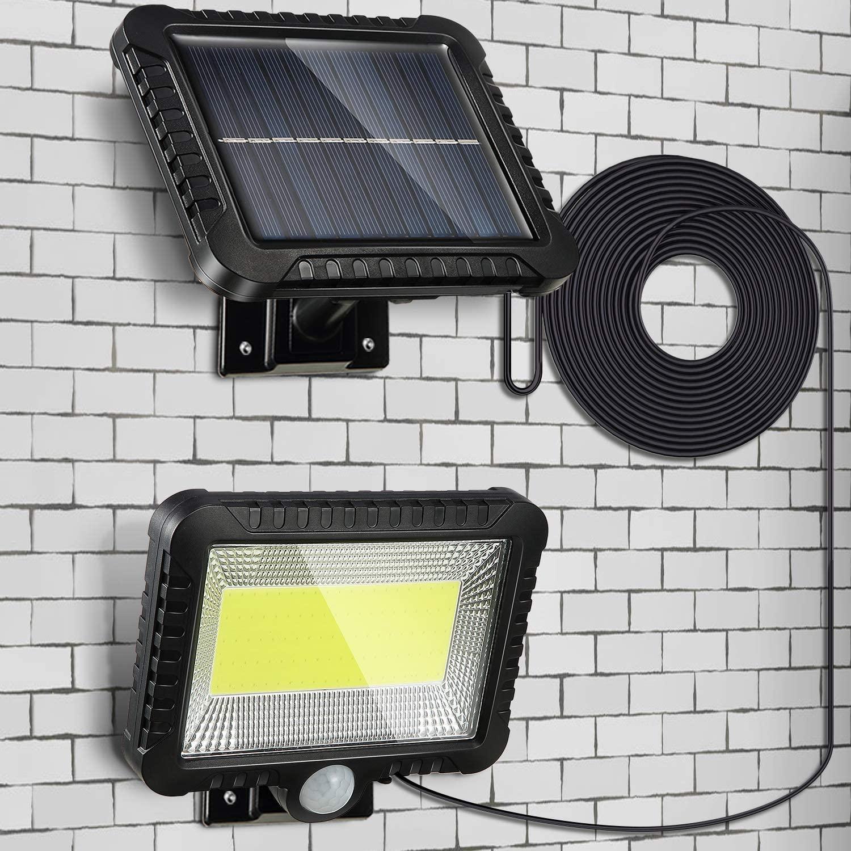 LEADLY COB светодиодный светильник на солнечных батареях, солнечный светильник, датчик движения, уличный садовый Точечный светильник, настенный светильник на солнечных батареях для уличного двора|Уличные настенные светильники|   | АлиЭкспресс