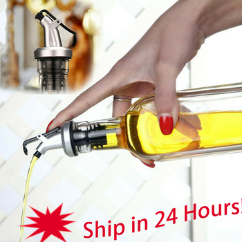 Easy To Use Olive Oil Sprayer Liquor Dispenser Wine Pourers Flip Top Stopper Tableware Gravy Tools Oil Pourers Kitchen Tools image