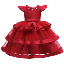23€  vestido niñas vestidos para fiesta y boda Vestido de manga corta de princesa niños vestidos de fiesta para niña vestido de cumpleaños