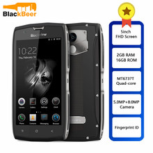 Blackview BV7000 IP68 Waterdichte Smartphone MT6737T Quad Core 2GB + 16GB 5inch FHD Scherm NFC Vingerafdruk 4G Dual SIM Mobiele Telefoon