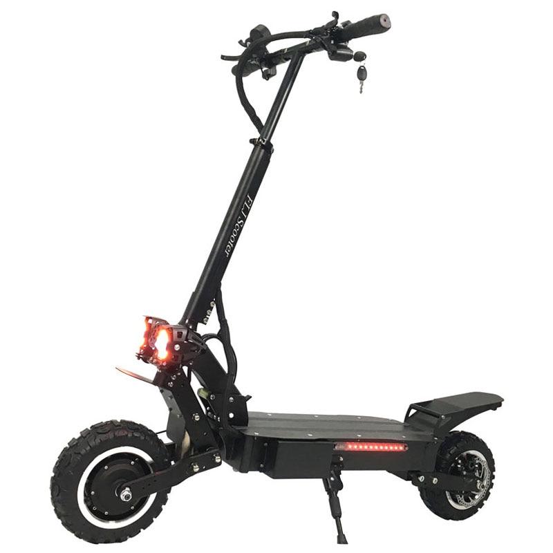 FLJ T112 3200W Dupla Do Motor Scooter Elétrico Poderoso com off road pneu roda 2 LED grande scooter de luzes e bike kick scooter