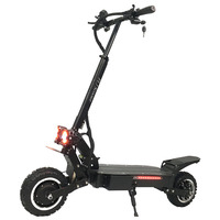 FLJ T112 3200W Dual Motor Powerful Electric Scooter with off road tire wheel 2 big LED scooter lights e bike kick scooter