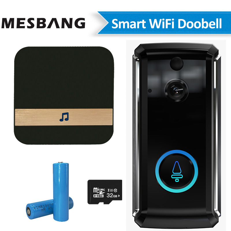 New Wifi Video Doorbell Wireless Battery Video Door Phone Intercom Wifi Door Phone Camera Door Bell With TF Card