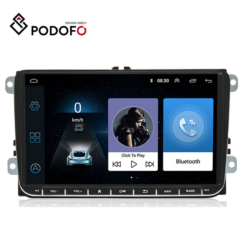 "Podofo 9"" Android 6.0 Car GPS Navigation Multimedia Player 2 din Radio for VW Passat Golf MK5 MK6 Jetta T5 EOS POLO Touran Seat-in Car Multimedia Player from Automobiles & Motorcycles"