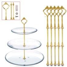 LBER  3 Tier golden Cake Stand(5 SETS) Holder,Crown