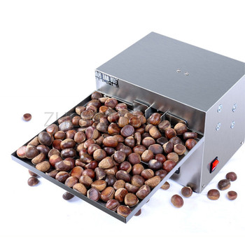 220V Commercial Chestnut Opening Machine Fully Automatic Chestnut Incision Machine Small Electric Chestnut Frying Machine Opener недорого