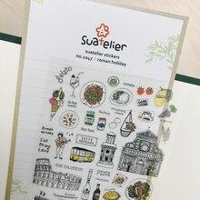 Sonia Italy View PET Cutting Die Sticker festa romana torre pendente di Pisa gelato closseo decorativo fai da te Hobby artigianato