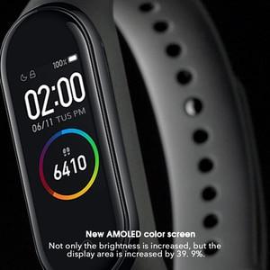 Image 4 - Original Brand Xiaomi Mi Band 4 5 Smart Watch Mi Band 5 Fitness Bracelet AMOLED Color Screen Heart Rate Music Control Smart Band