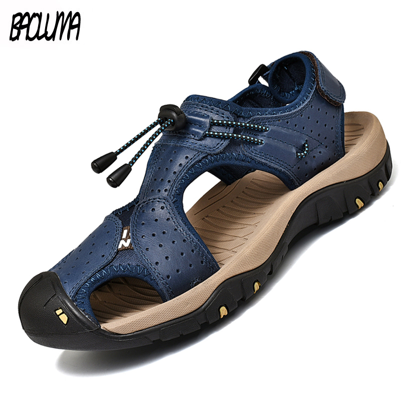 Classic Summer Mens Gladiator Sandals Outdoor Slip-ON Mens Beach Sandals Comfortable Basic Men's Sandals Romano Boys Loafers