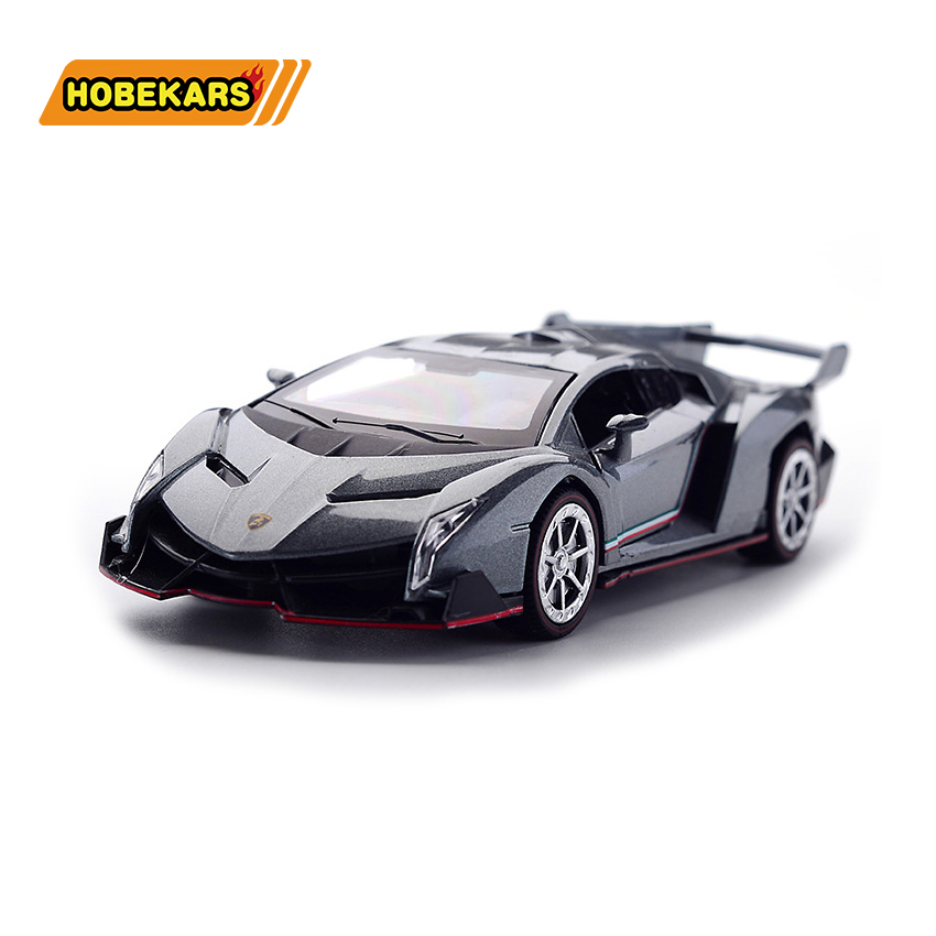 1/32 Poison Sports-car Model Car Diecast Metal Alloy Simulation Pull Back Vehicles Cars Lights Toys For Kids Gifts For Children