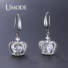 UMODE Cross Drop Earring for Women Crown Dangle Earrings Clear Cubic Zircon Jewelry Girl Wedding Bridal 2019 New Fashion UE0466B