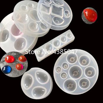 1PC woda klej kryształowy okrągły Cabochon koło wisiorek silikonowe formy UV do wyrobu biżuterii Pedant Exoxy formy żywiczne biżuteria narzędzia tanie i dobre opinie 0inchinch fashion
