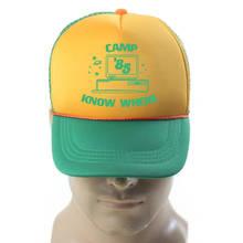 TV Stranger Baseball Hat Things Dustin Cosplay Hat Trucker Cap Yellow Green 85 Know Where Adjustable Mesh Cap Gift Halloween все цены