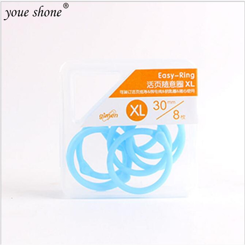 1Box=30Pcs Creative Candy Color XL Plastic Multifunction Random Ring Open Loop Document Information Binding Clip