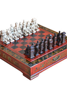 Chessboard Puzzle Terracotta Warriors Wooden Birthday-Gift Classic Adult Teenager Cartoon-Characters