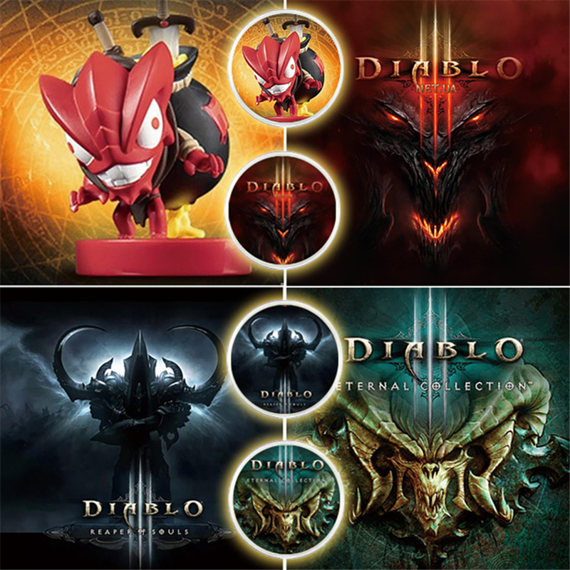 2Pcs/lot Diablo 3 Game Card NFC Coin Tag Of Amiibo NS Switch Ntag215 New data seting Include Elite Secret territory Loot Goblin