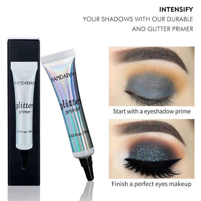 Glitter Primer Sequined Primer Eye Makeup Cream Waterproof Sequin Glitter Eyeshadow Glue Korean Cosmetics 3