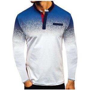 Image 4 - 2019 Autumn NEW Fashion POLO Shirt Men, Cotton Casual Long Sleeve POLO Shirts, Male High Quality Turn Down Collar POLO Shirt
