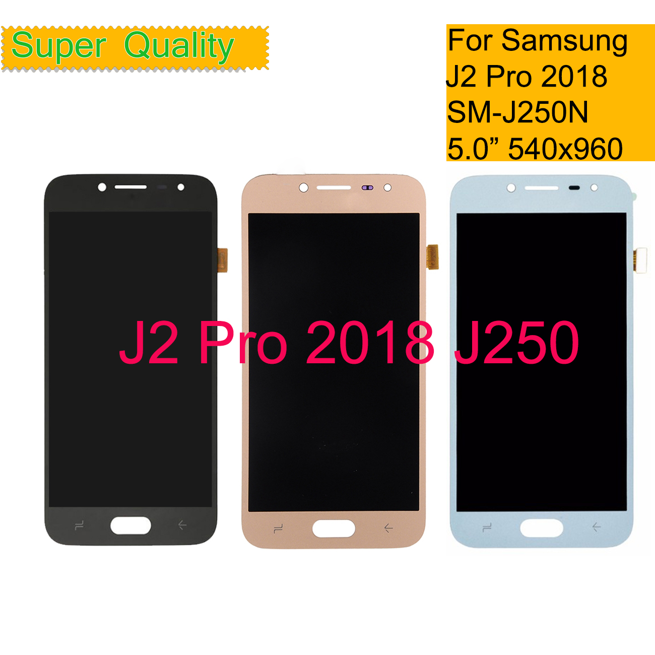 Original J250 Amoled LCD For <font><b>Samsung</b></font> <font><b>Galaxy</b></font> <font><b>J2</b></font> pro <font><b>2018</b></font> J250 <font><b>J250F</b></font> J250N LCD Display touch screen digitizer assembly <font><b>SM</b></font>-<font><b>J250F</b></font> image