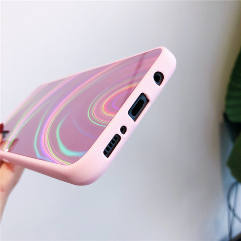 Glitter 3D Rainbow Mirror Soft Case Cover for Samsung Galaxy A50 A30 A70 A20 A10 M10 S8 S9 S10 Plus A9 A6 A7 2018 Note 8 9 10 + Islamabad