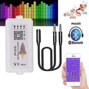 WIFI SP107E SP107E pikseli IC SPI muzyka kontroler Bluetooth dla WS2812 SK6812 SK9822 RGBW APA102 LPD8806 taśmy DC5-24V
